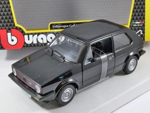 1979 VOLKSWAGEN GOLF Mk1 GTi in Black - 1/24 scale model by Burago
