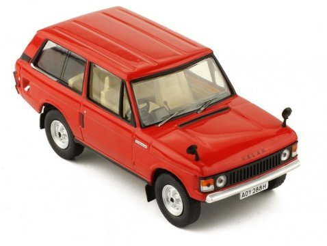 1969 LAND ROVER RANGE ROVER VELAR in Red 1/43 scale model by IXO