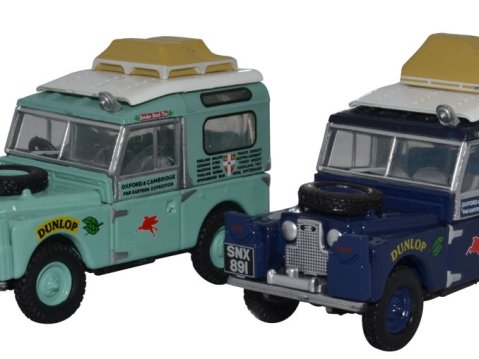 LAND ROVER - First Overland Set 1/76 scale model Oxford Diecast