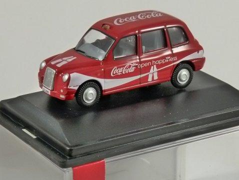 TX4 London Taxi - Coca Cola - 1/76 scale model OXFORD DIECAST