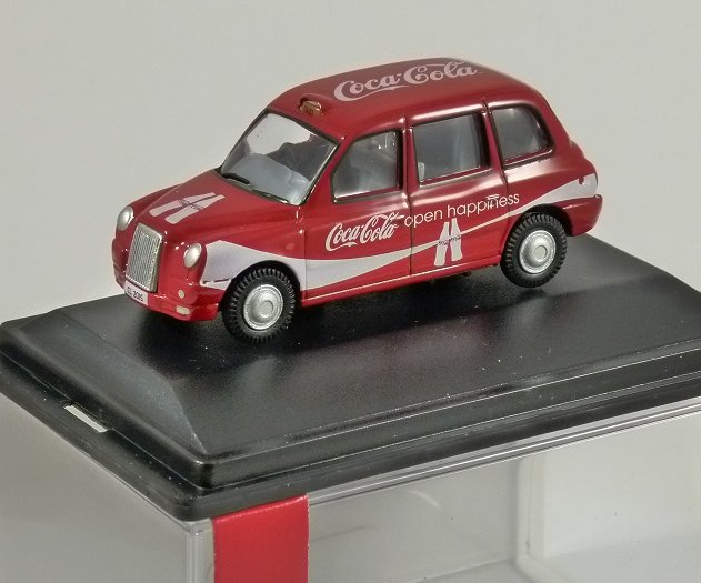 TX4 London Taxi - Coca Cola - 1/76 scale model OXFORD DIECAST