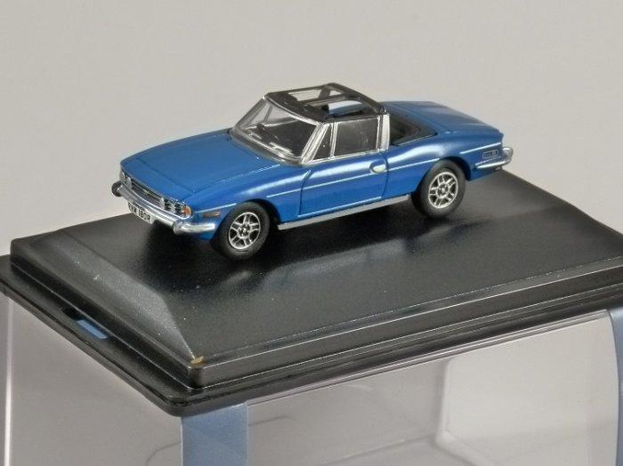 TRIUMPH STAG in Blue 1/76 scale model OXFORD DIECAST