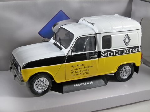 1975 RENAULT 4 F4 Van - Renault Service - 1/18 scale model by Solido