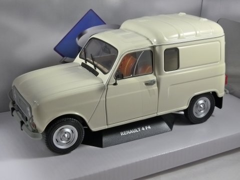 1985 RENAULT 4 F4 Van in Cream / White 1/18 scale model by Solido