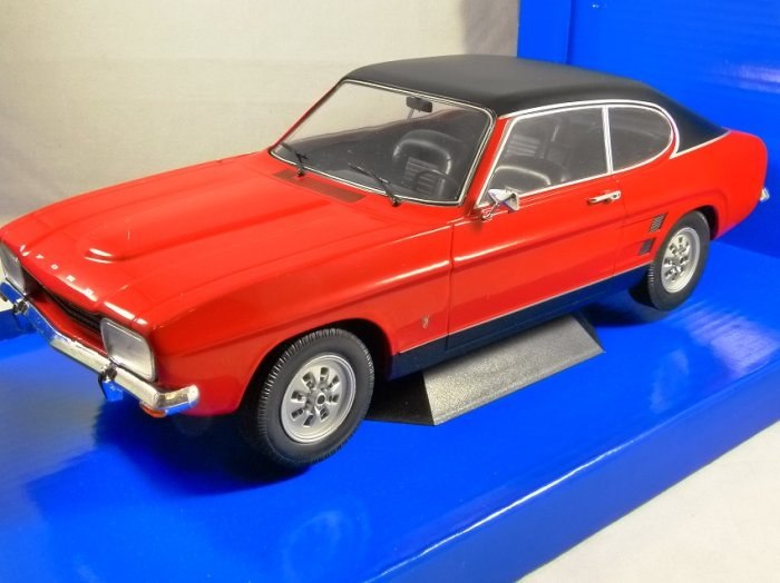 1973 FORD CAPRI Mk1 in Red 1/18 scale model by MCG