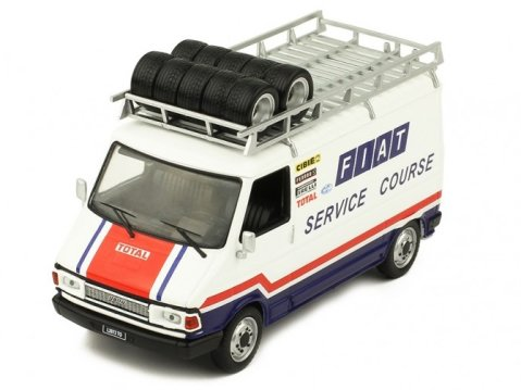 FIAT 242 Van - Fiat France Rally Service Course 1/43 scale model by IXO