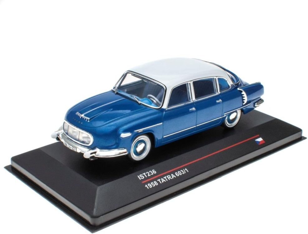 1958 TATRA 603/1 in Blue 1/43 scale model by IXO