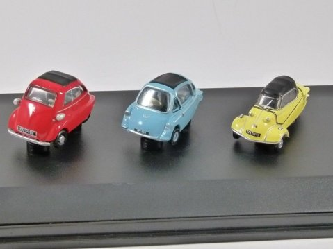BUBBLE CAR KR200 / Isetta / Heinkel Set 1/76 scale model Oxford Diecast