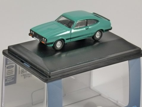 FORD CAPRI MkIII 3.0S in Peppermint Green 1/76 scale model OXFORD DIECAST