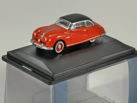 AUSTIN ATLANTIC Saloon in Ensign Red 1/76 scale model OXFORD DIECAST