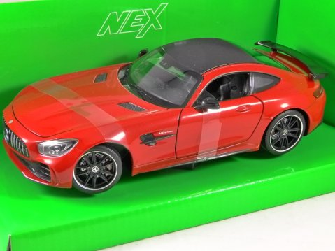 MERCEDES AMG GT-R in Red 1/24 scale model by WELLY