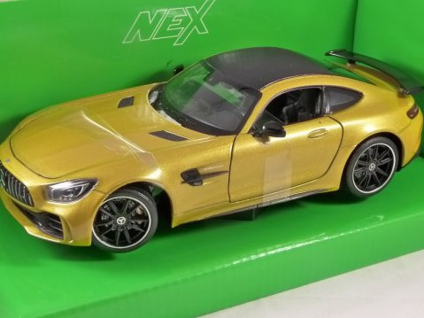MERCEDES AMG GT-R in Yellow 1/24 scale model by WELLY