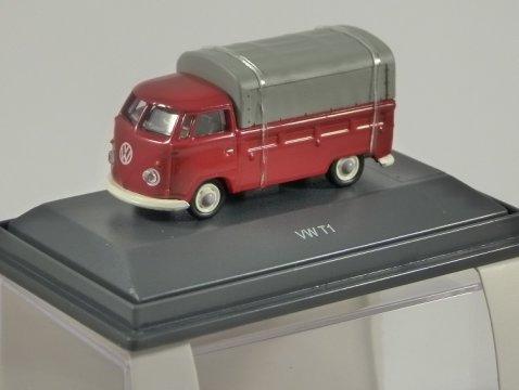Schuco VOLKSWAGEN T1 PICKUP in Red 1/87 scale model