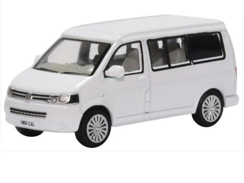 VOLKSWAGEN T5 CALIFORNIA CAMPER in White - 1/76 scale model OXFORD DIECAST