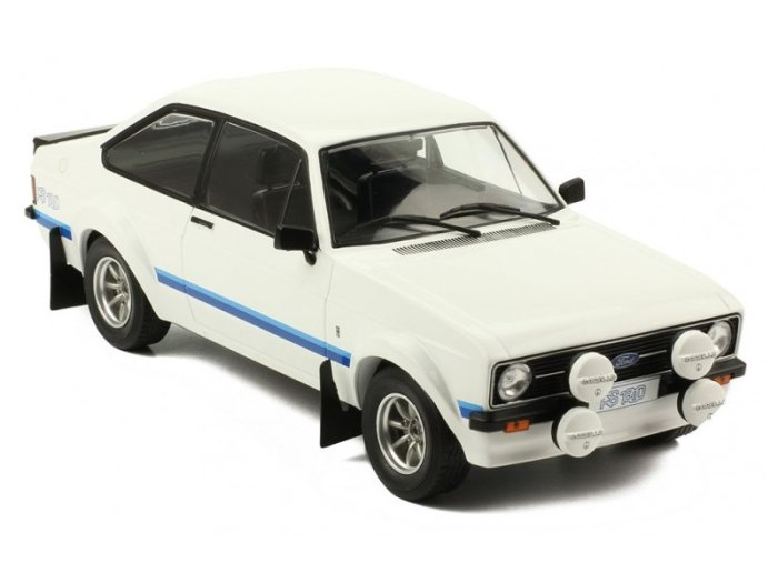 1977 FORD ESCORT MkII RS1800 in White 1/18 scale model by IXO
