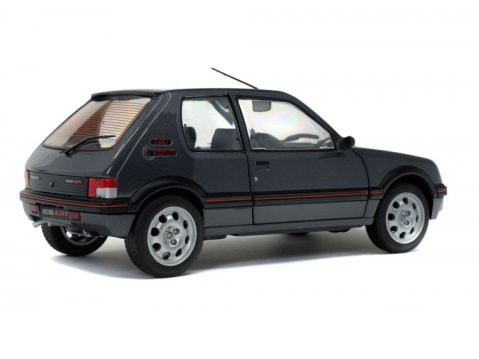 1990 PEUGEOT 205 GTi Mk2 1.9 in Grey 1/18 scale model by SOLIDO