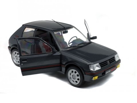 1990 PEUGEOT 205 GTi Mk2 1.9 in Grey 1/18 scale model by SOLIDO
