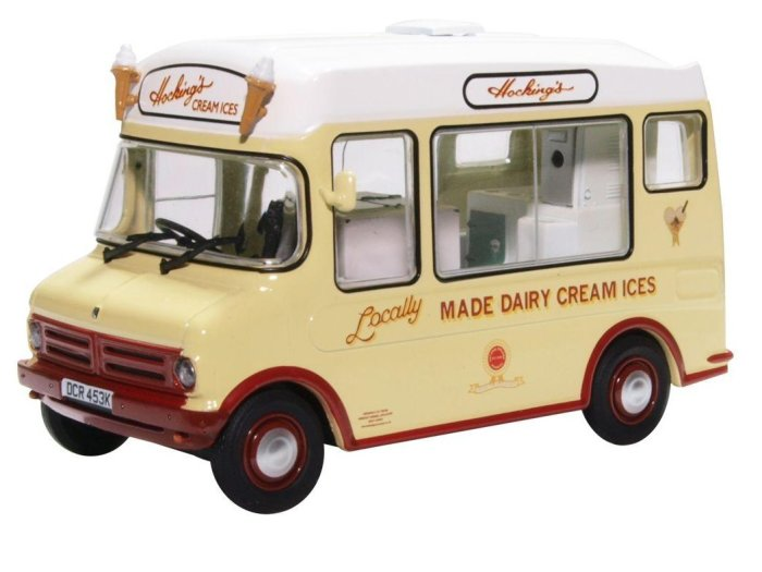 BEDFORD CF ICE CREAM VAN Mr Whippy 1/43 scale model by Oxford Diecast