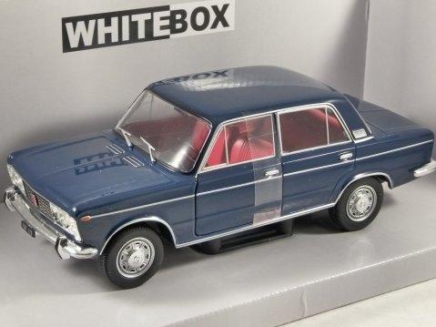 1970 FIAT 125 SPECIAL in Dark Blue 1/24 scale model by Whitebox