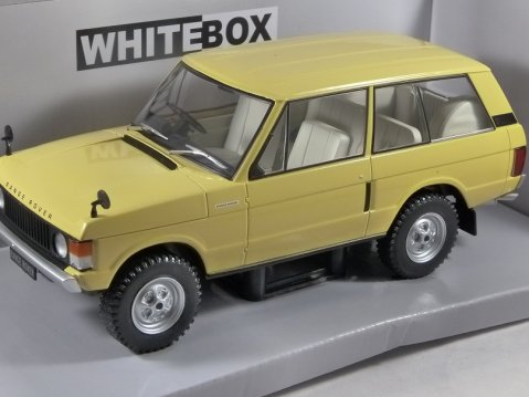 1972 RANGE ROVER 3.5 V8 in Yellow 1/24 scale model by Whitebox