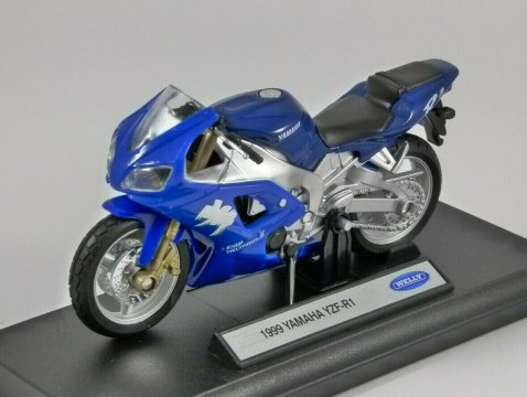 1999 YAMAHA YZF-R1 1/18 scale model by WELLY