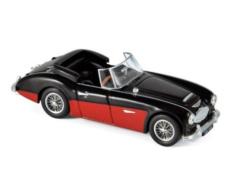 1964 AUSTIN HEALEY 3000 Mk3 in Black / Red 1/43 scale model by Norev