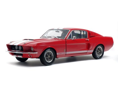 SHELBY FORD MUSTANG GT500 in Red 1/18 scale model by SOLIDO
