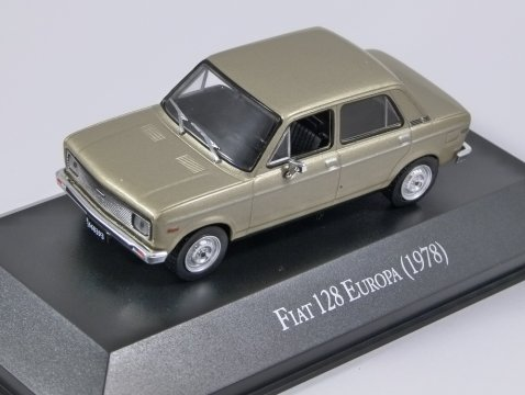 1978 FIAT 128 EUROPA in Gold - 1/43 scale partwork model