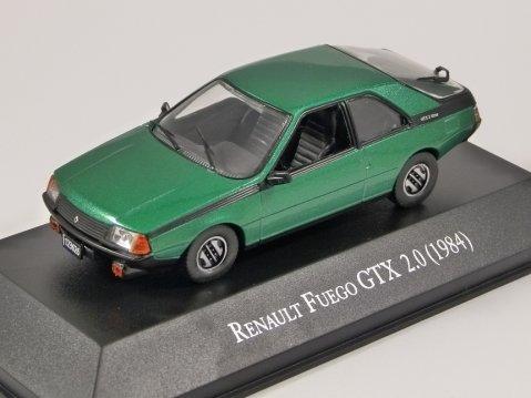 1984 RENAULT FUEGO GTX 2.0 in Green - 1/43 scale partwork model