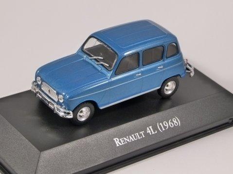 1968 RENAULT 4L in Blue - 1/43 scale partwork model