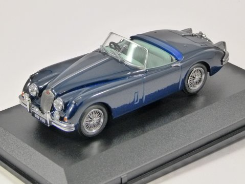 JAGUAR XK150 Roadster in Blue 1/43 scale model by Oxford Diecast