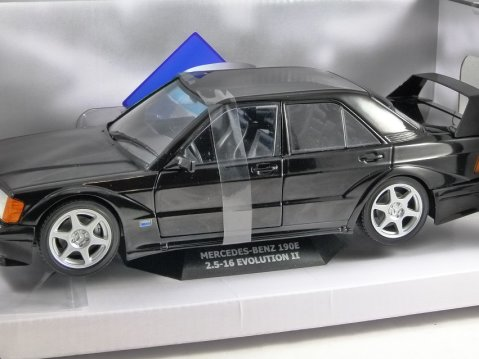 1990 MERCEDES BENZ 190E 2.5-16 Evolution 2 in Black 1/18 scale model by SOLIDO