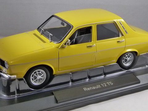 1973 RENAULT 12 TS in Yellow 1/18 scale model by NOREV