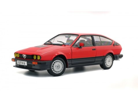 ALFA ROMEO GTV 6 in Red 1/18 scale model by SOLIDO