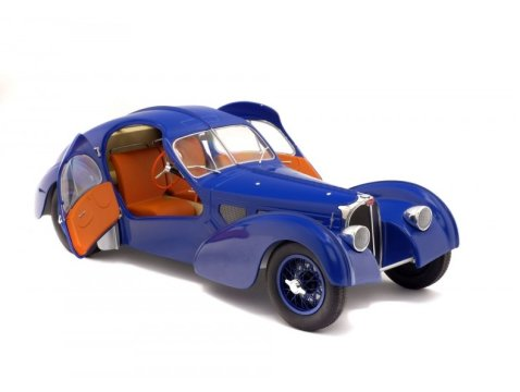 1938 BUGATTI TYPE 57 SC ATLANTIC in Dark Blue 1/18 scale model by SOLIDO