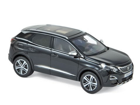 PEUGEOT 3008 GT in Black 1/43 scale model by Norev