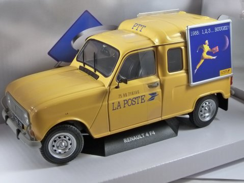 1988 RENAULT 4 F4 Van 'La Poste' 1/18 scale model by Solido