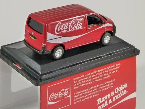 VOLKSWAGEN T5 - COCA COLA / COKE - 1/76 scale model OXFORD DIECAST