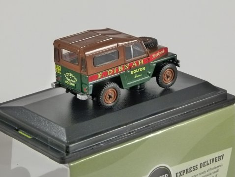LAND ROVER Lightweight - Fred Dibnah - 1/76 scale model OXFORD DIECAST