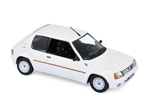 1988 PEUGEOT 205 RALLYE in White 1/43 scale model by Norev