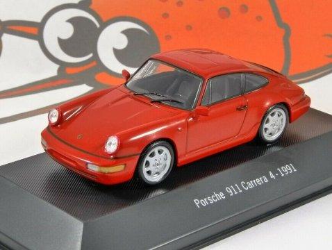 1991 PORSCHE 911 CARRERA 4 - 1/43 scale partwork model - Porsche 911 Collection