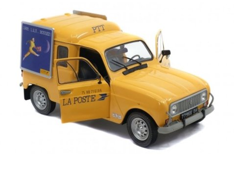 RENAULT 4 F4 Van 'La Poste' 1/18 scale model by Solido