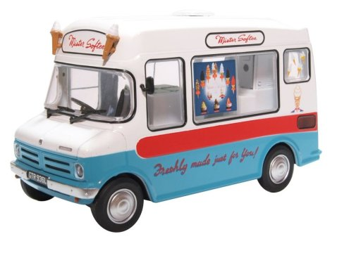 BEDFORD CF ICE CREAM VAN Mister Softee 1/43 scale model by Oxford Diecast
