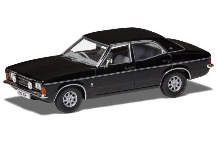 FORD CORTINA Mk3 2000E in Black 1/43 scale model by Corgi