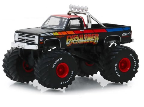 1987 CHEVROLET K-20 SILVERADO Monster Truck 1/64 scale model GREENLIGHT