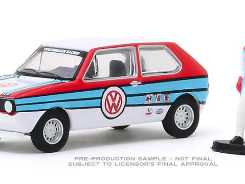 1975 VOLKSWAGEN GOLF / RABBIT w/ Race Car Driver 1/64 scale model GREENLIGHT