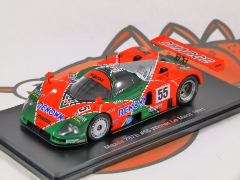 1991 MAZDA 787B #55 Le Mans 1/43 scale partwork model by Spark