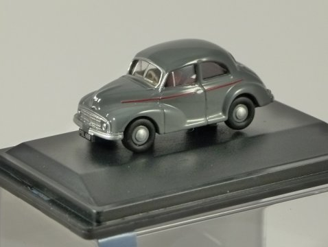 MORRIS MINOR MM Saloon in Clarendon Grey 1/76 scale model OXFORD DIECAST