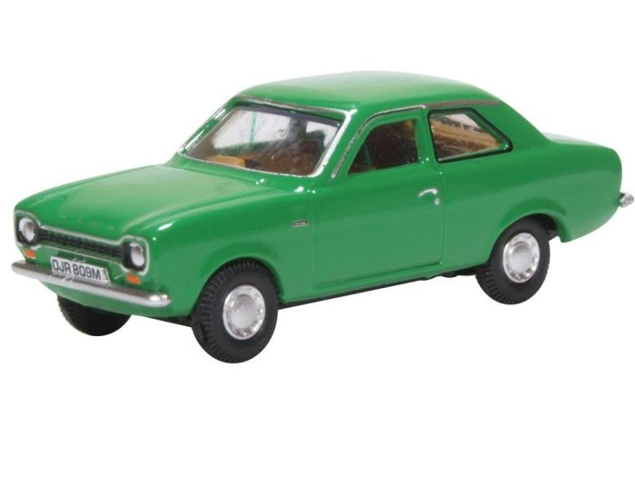 FORD ESCORT Mk1 in Modena Green 1/76 scale model by Oxford Diecast