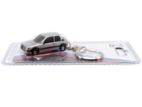 PEUGEOT 205 GTi in Silver keyring / key chain by Z Models
